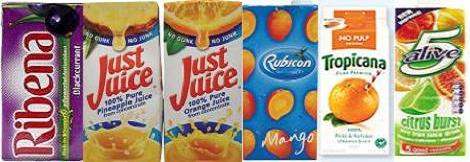 drinks online, ribena, just juices rubicon, 5 alive and other fruit juices.